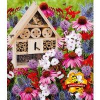 18er Bienen-Pflanzenmix mit Insektenhaus