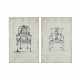 2 Bilder aus Holz und Leinen 80 x 120 cm