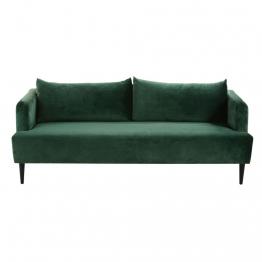 3-Sitzer-Sofa, grüner Samtbezug Giulia