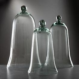 3er Set mundgeblasene Ziehglocken aus Glas