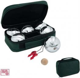 6 Boule Kugeln Boccia Boulekugeln aus Metall Petanque Boul Tasche Sommer Urlaub