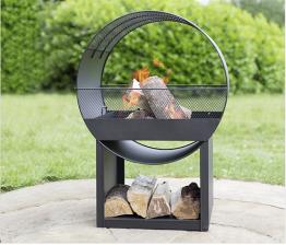 Buschbeck Feuerschale metall mit holzfach
