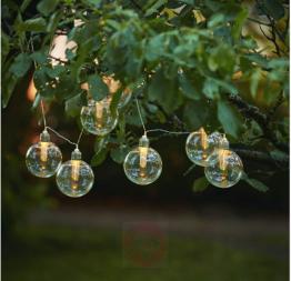 LED-Solar-Lichterkette Chania mit 8 Globe-Lampen