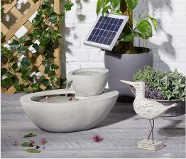Solar-Gartenbrunnen steinoptik