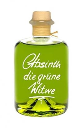 Absinth Die Grüne Witwe 0,5L Mit maximal erlaubten Thujongehalt 35mg/L 55%Vol - 1