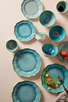 Acores Großer Teller - Turquoise