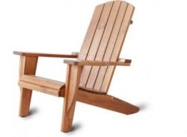 Adirondack Chair Ottawa Liegestuhl Massivholz Braun Deckchair