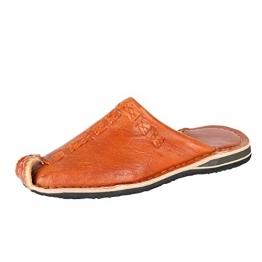 albena Marokko Galerie Unisex marokkanische Schuhe Leder Pantoffel Aladin (40, Terra) - 1