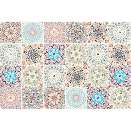Ambiance-Live 24Aufkleber Fliesen | Sticker Selbstklebend Fliesen–Mosaik Fliesen Wandtattoo Badezimmer und Küche | Fliesen Kleber–Mandala–10x 10cm–24-teilig - 1