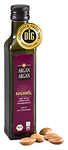 ARGANARGAN Bio-Arganöl geröstet 250ml, kaltgepresst, DLG-GOLD prämiert, SIEGER PREIS-LEISTUNG (vergleich.org), vegan, Gourmet-Speiseöl - 1