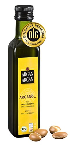 ARGANARGAN Bio-Arganöl, ungeröstet 250ml, kaltgepresst, DLG-GOLD prämiert, vegan, Anti-Aging, auch für Haut, Gesicht, Haare - 1