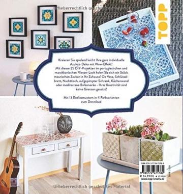 Azulejos. Möbel und Wohndeko im portugiesischen Stil zum Selbermachen: Mit 10 Fliesenmustern in vier Farbvarianten zum Download - 2