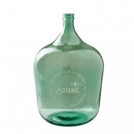 Ballonvase aus grün getöntem Glas H. 56