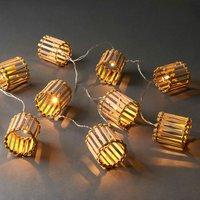 BAMBOO LIGHTS Lichterkette Bambus 10 Lichter