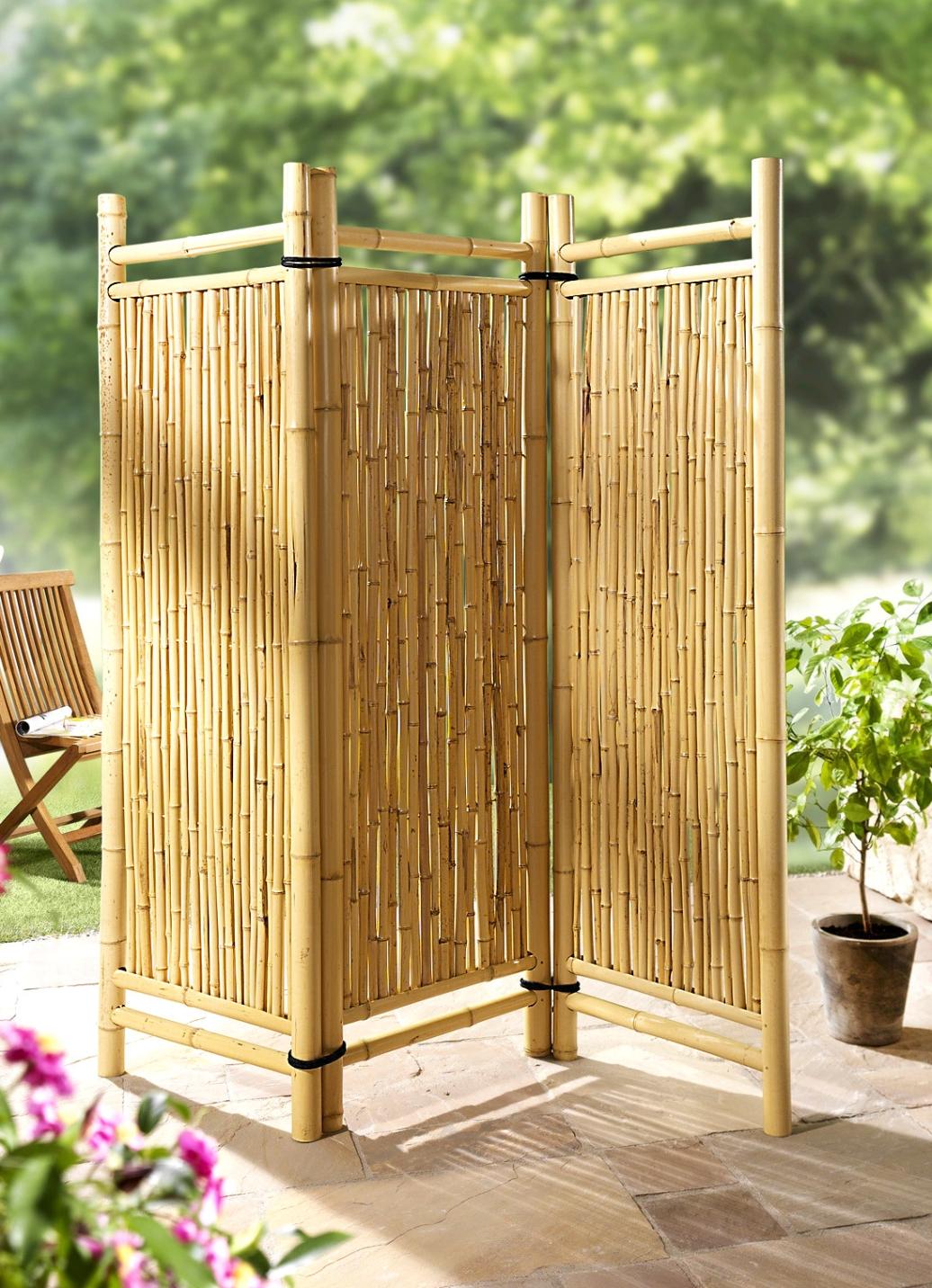 Bambus paravent shop ambiente mediterran - Paravent bambus ...
