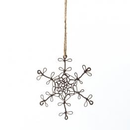 Baumanhänger ´´Schneekristall´´, antik-braun, B 13 cm, H 13 cm