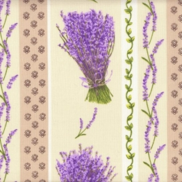 Baumwollstoff | Bündel von Lavendel (Streifen) | 100% Baumwolle | Stoffbreite: 160cm (1 meter) - 1