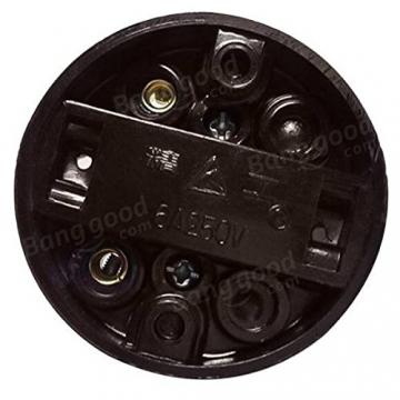 Bazaar AC250V 6A Flache kreisförmige Oberfläche montiert Retro Button Lichtschalter für Inneneinrichtungen - 2
