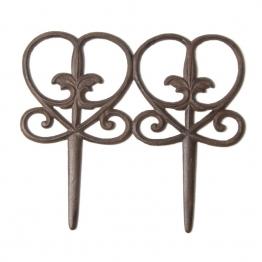 Beetabgrenzer ´´Modell G´´, antik-rost, B 31 cm, H 27 cm