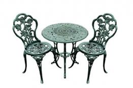 Benelando Balkonset aus Gusseisen mit zwei Stühlen und einem Tisch
