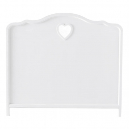 Bett-Kopfteil aus Holz, B 140cm, weiß Valentine