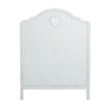Bett-Kopfteil aus Holz, weiß, B90