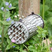 Bienenhotel mit Räuberschutz, bedruckte Metalldose, L 16 cm, Ø 9 cm