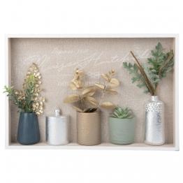 Bild Vasen und Blätter 45x30
