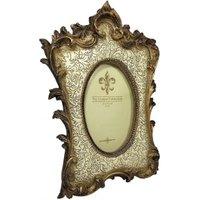 Bilderrahmen Fotorahmen Oval Kunstguss gold creme Barock Portraitrahmen Antik...