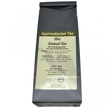 Bio Datteltee Dattel Tee ayurvedische Pitta Mischung ✔ Tea Chay Chai lose ✔ Teemischung ✔ ohne Zusatzstoffe, Aromastoffe & Konservierungsstoffe, 100g - 2