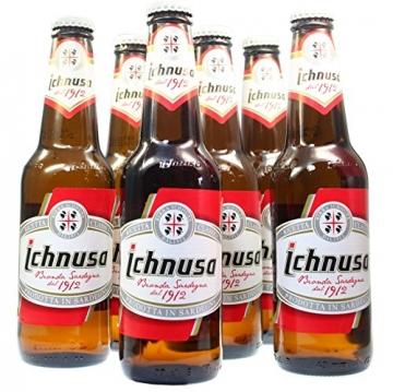 Birra Ichnusa -klein- (05 Flaschen à 0,33 Lt) -Bier aus Italien (Sardinien) 8,50 EUR - 2