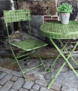 Bistro-Gartenmöbel Klappstuhl ´Antik-Grün´