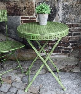 Bistro-Gartenmöbel Klapptisch ´Antik-Grün´