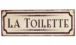 Blechschild LA TOILETTE Toilettenschild Vintage Nostalgie Dekoschild 36x13cm