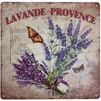 Blechschild Lavande de Provence Dekoschild Lavendel Nostalgie 30x30cm