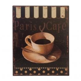 Blechschild PARIS CAFE Nostalgie Dekoschild Vintage 25x20cm