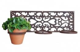 Blumentopfhalter 3er Gusseisen Antik-Braun Pflanzenhalter Wandtopfhalter