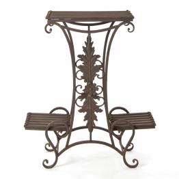Blumentreppe ´´Provence´´, antik-braun, L 22 cm, B 58 cm, H 68 cm