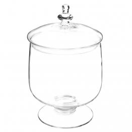 Bonbonniere aus Glas mit Fuß H 35 cm