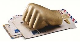 Briefbeschwerer ´Ägyptische Hand´, Skulptur