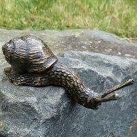 Bronzefigur Schnecke Flinki