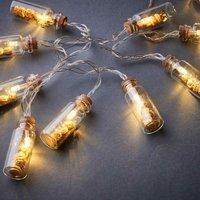 BUDDHA Lichterkette mit Glas