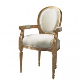 Cabriolet-Sessel aus Baumwolle, ecru