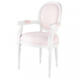 Cabriolet-Sessel aus Leinen, rosa  Poésie