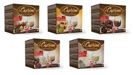Caffè Bonini Trinkschokolade-Mix 50 Kapseln (Nespresso kompatibel) - 5 verschiedene Sorten (u.a. Schokolade, Haselnuss) - 1