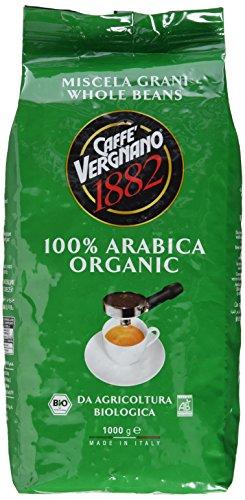 Caffè Vergnano 1882 Bio 100% Arabica Ganze Bohnen, 1er Pack (1 x 1 kg) - 1