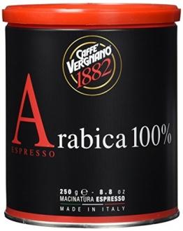 Caffè Vergnano 1882 Espresso gemahlen Dose, 2er Pack (2 x 250 g) - 1