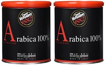 Caffè Vergnano 1882 Espresso gemahlen Dose, 2er Pack (2 x 250 g) - 2