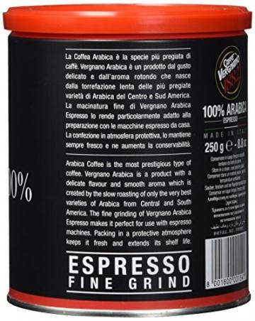 Caffè Vergnano 1882 Espresso gemahlen Dose, 2er Pack (2 x 250 g) - 3