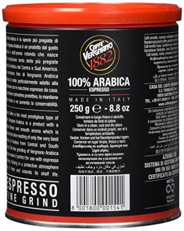 Caffè Vergnano 1882 Espresso gemahlen Dose, 2er Pack (2 x 250 g) - 4